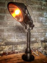 Steampunk desk or dresser lamp: colour changing dresser lamp .