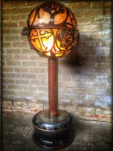 Steampunk Art floor lamp: Decorative floor lamp with mandala.