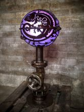 Steampunk Art floor lamp: Decorative piece of art with cameleon.