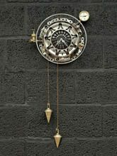 Steampunk  desk or wall clock: wall clock pendulums and glass.